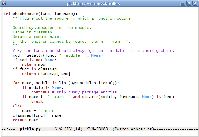 Screenshot of Emacs with XFT support